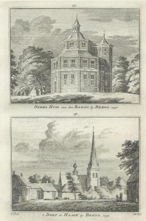 BREDA. Speelhuis en dorp de Haage.