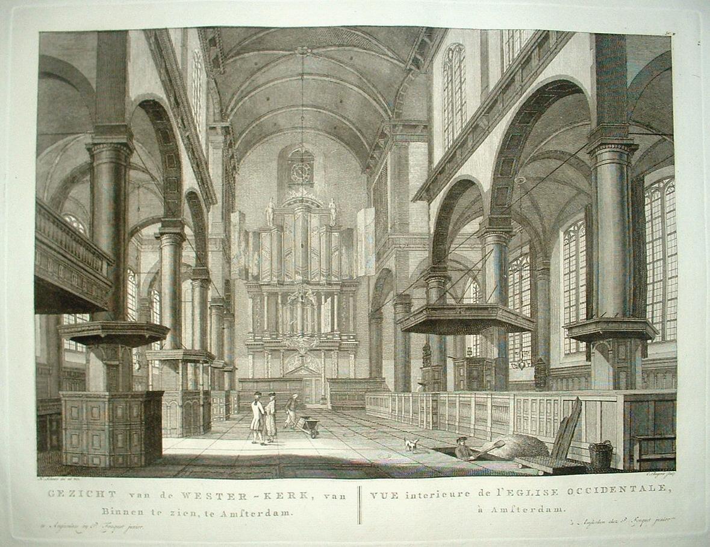 Amsterdam westerkerk interieur met orgel p fouquet for Interieur amsterdam