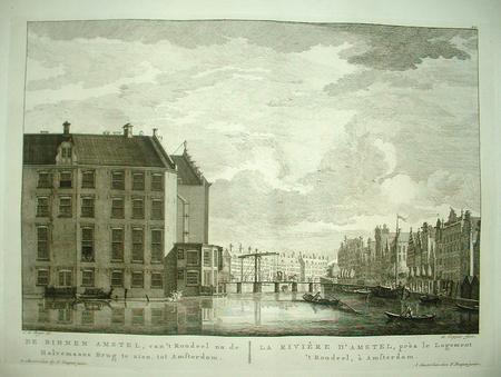 Amsterdam. Amstel, Halvemaansbrug, Rondeel.