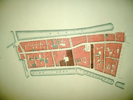Amsterdam.  plan of 'Buurt A'. Nes/Rokin/Oudezijds Voorburgwal.