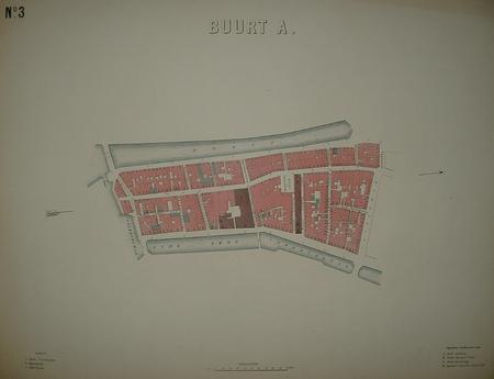 AMSTERDAM.  plattegrond van Buurt A. Nes/Rokin/Oudezijds Voorburgwal