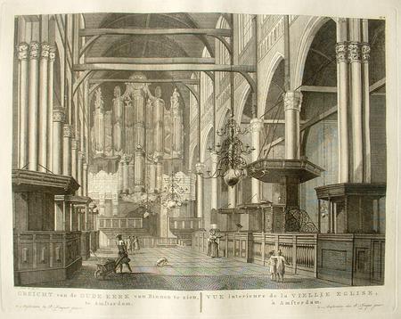 AMSTERDAM. Oude Kerk. Interieur met orgel.