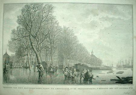 Amsterdam. Kattenburg. Flood 1775.