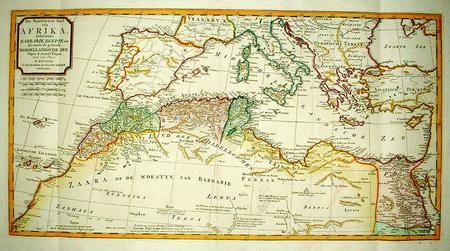 Noord-Afrika. Middellandse Zee.