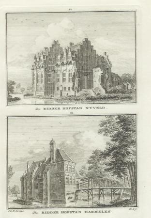 HARMELEN. Ridderhofsteden Nyveld en Harmelen.