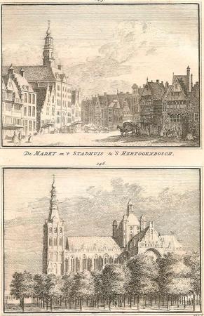 DEN BOSCH. Markt en St. Janskerk.