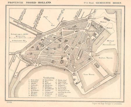 Hoorn, city plan