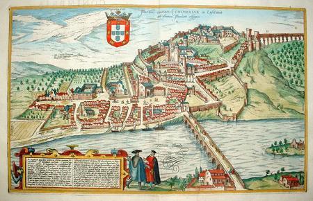 Portugal. Coimbra. Vogelvluchtperspectief.