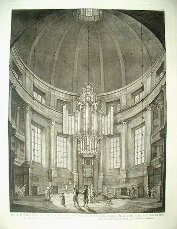 Amsterdam. New Lutheran Church. Interior with organ.