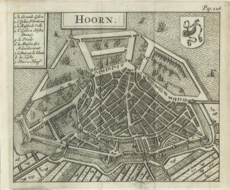 HOORN. Stadsplattegrond.