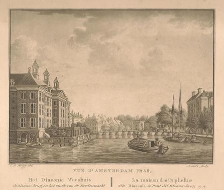 Amsterdam. Amstel. Diaconieweeshuis. Blauwbrug
