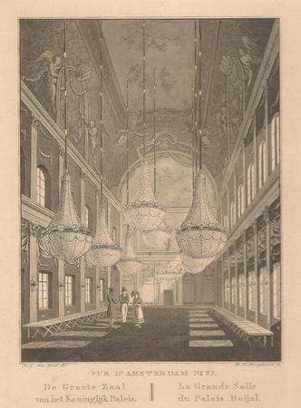 Amsterdam. Koninklijk Paleis. Interieur. Grote zaal.