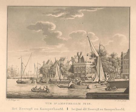 Amsterdam. Prins Hendrikkade. Zeerecht en Kamperhoofd.