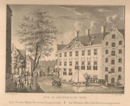 Amsterdam. Grimburgwal. Oudezijds Herenlogement en Gasthuis.
