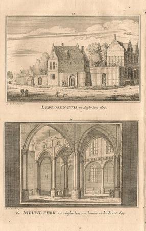 Amsterdam. Leprozenhuis en Nieuwe kerk