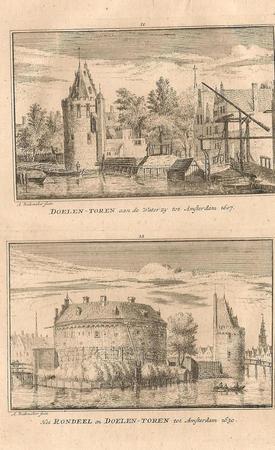 Amsterdam. Westerkerk en Nieuwe Brug.