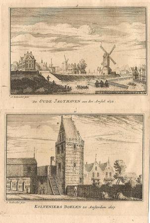 Amsterdam. Oude Jachthavenand  Kloveniersdoelen.