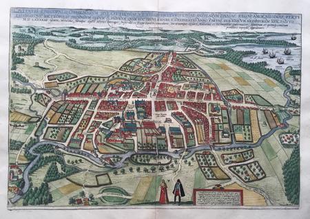 Denmark. Odense. Bird's-eye view