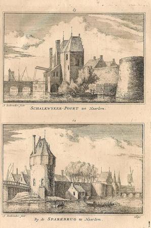 Haarlem - Schalkwijker Poort. Spaarnebrug.