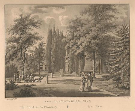 Amsterdam. Plantage Parklaan. Wertheimpark.