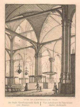 Amsterdam. Oude Kerk. Interieur