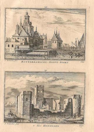 Rotterdam, Ooster Oude Hoofdpoort en Slot Honingen.