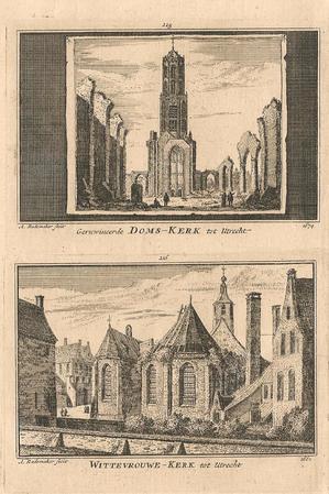 Utrecht Dom en Wittevrouwen Kerk.