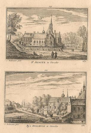 Utrecht. St. Agnietenklooster en Dolhuis.