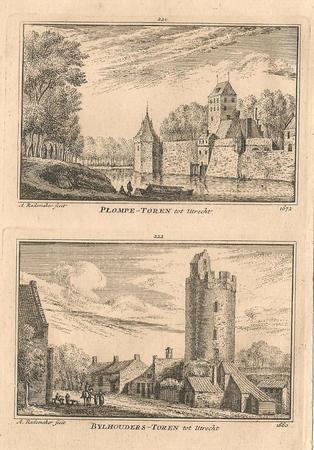 Utrecht. Plompetoren en Bijlhouwerstoren.