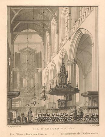 Amsterdam. Nieuwe kerk. Interieur.