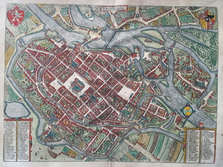 Poland. Wroclaw (Breslau). Bird's-eye plan.