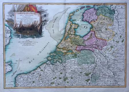Netherlands. Map of the Seven United Provinces.