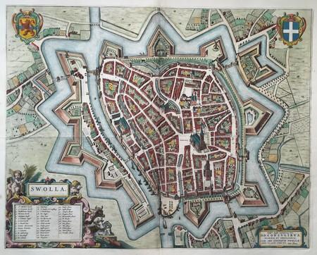 Zwolle. Bird's-eye plan.