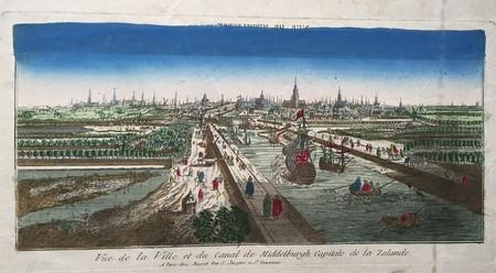 Middelburg. Aanzicht op de stad.