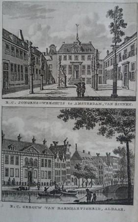 Amsterdam. R.C. Weeshuis and gebouw van barmhartigheid