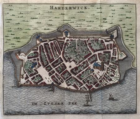 Harderwijk. Bird's-eye plan