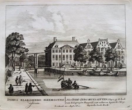 Amsterdam. Waterlooplein. Oudezijds. Huiszittenhuis