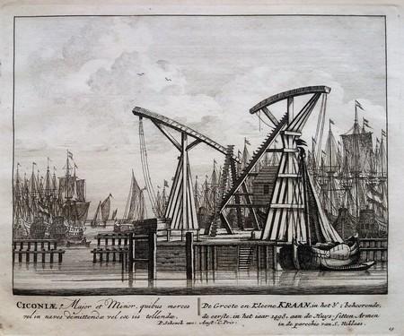 Amsterdam. IJ. Ship's cranes