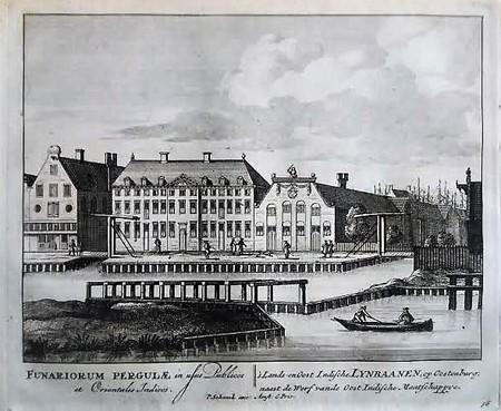 Amsterdam. Oostenburg. Lijnbanen VOC en Admiraliteit.