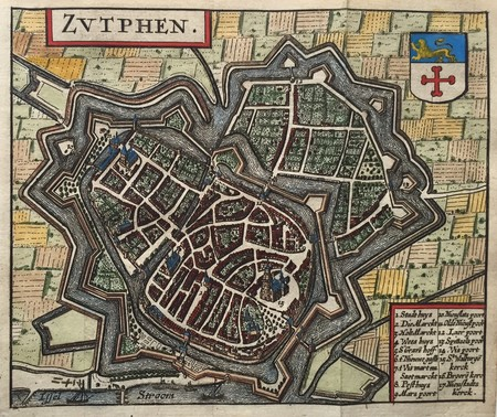 Zutphen. Bird's-eye plan.