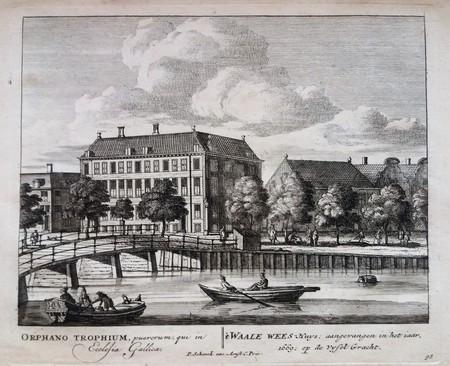 Amsterdam. Vijzelgracht. Walenweeshuis Maison Descartes.