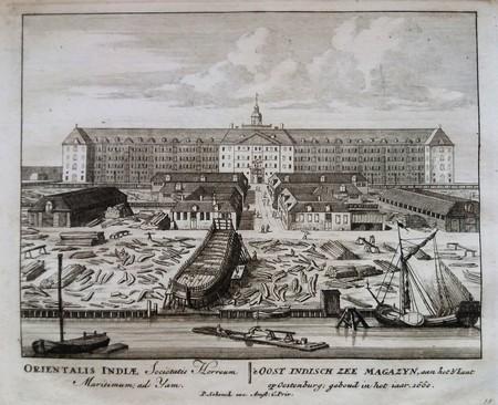Amsterdam. Oostenburg. VOC. Oost-Indiëwerf en Oost-Indisch Zeemagazijn.