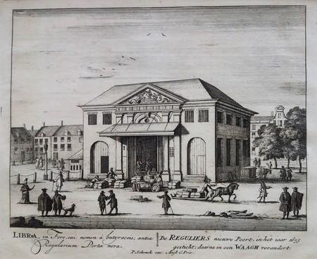 Amsterdam. Rembrandtplein. Regulierswaag.