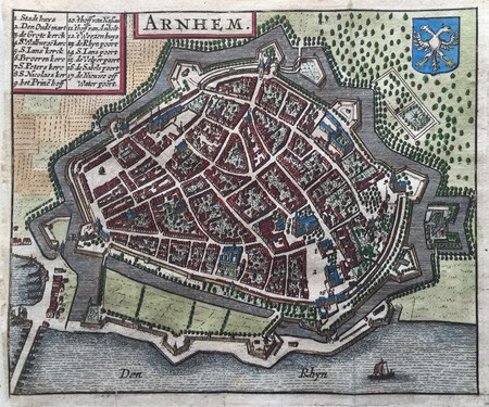 Arnhem. Bird's-eye plan.