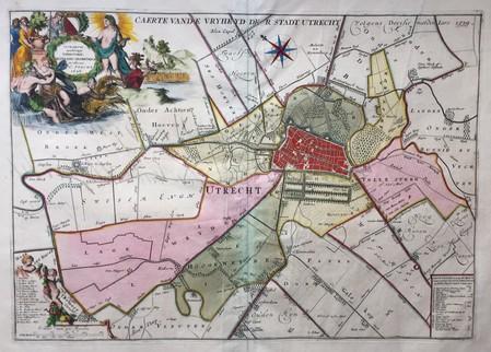 Utrecht. Plan of Utrecht and surrounding area.