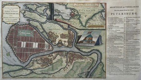 Russia. Saint Petersburg. Plan of St. Petersburg.