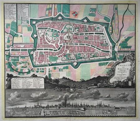 Utrecht. Plan of Utrecht and view.