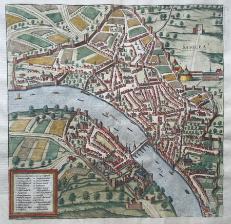 Switzerland. Basel. Bird's-eye plan
