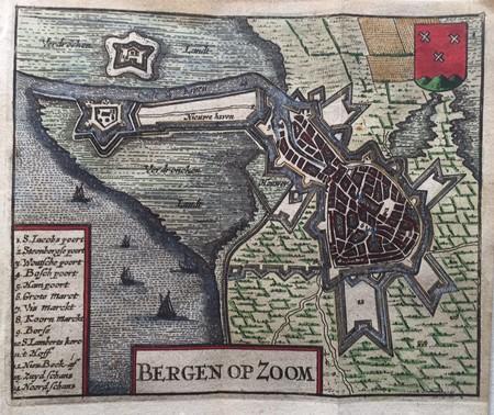 Bergen op Zoom. Stadsplattegrond.