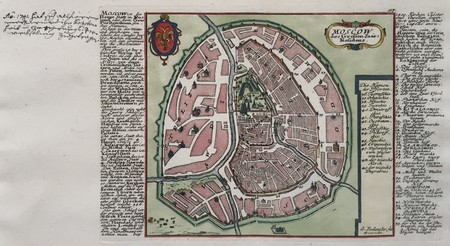 Russia. Moscow. Plan of Moscow.